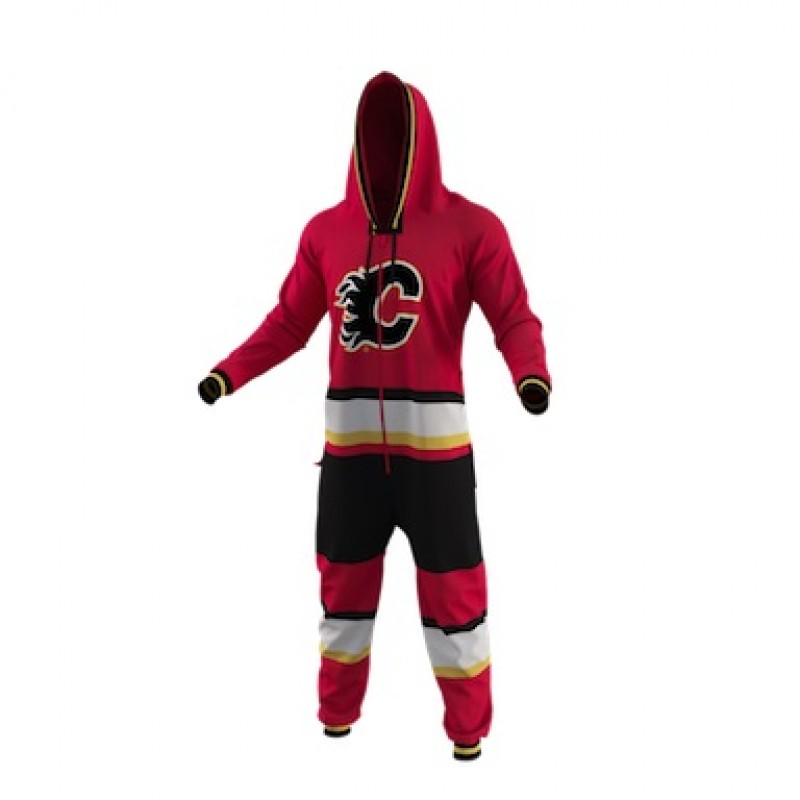 finest selection ea365 0f0a7 HOCKEY SOCKEY CALGARY FLAMES ONESIE ADULT SIZE SMALL ...